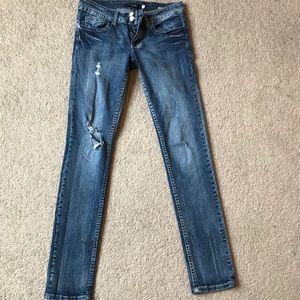 Vigoss Women's Denim Distressed Skinny Jeans 3